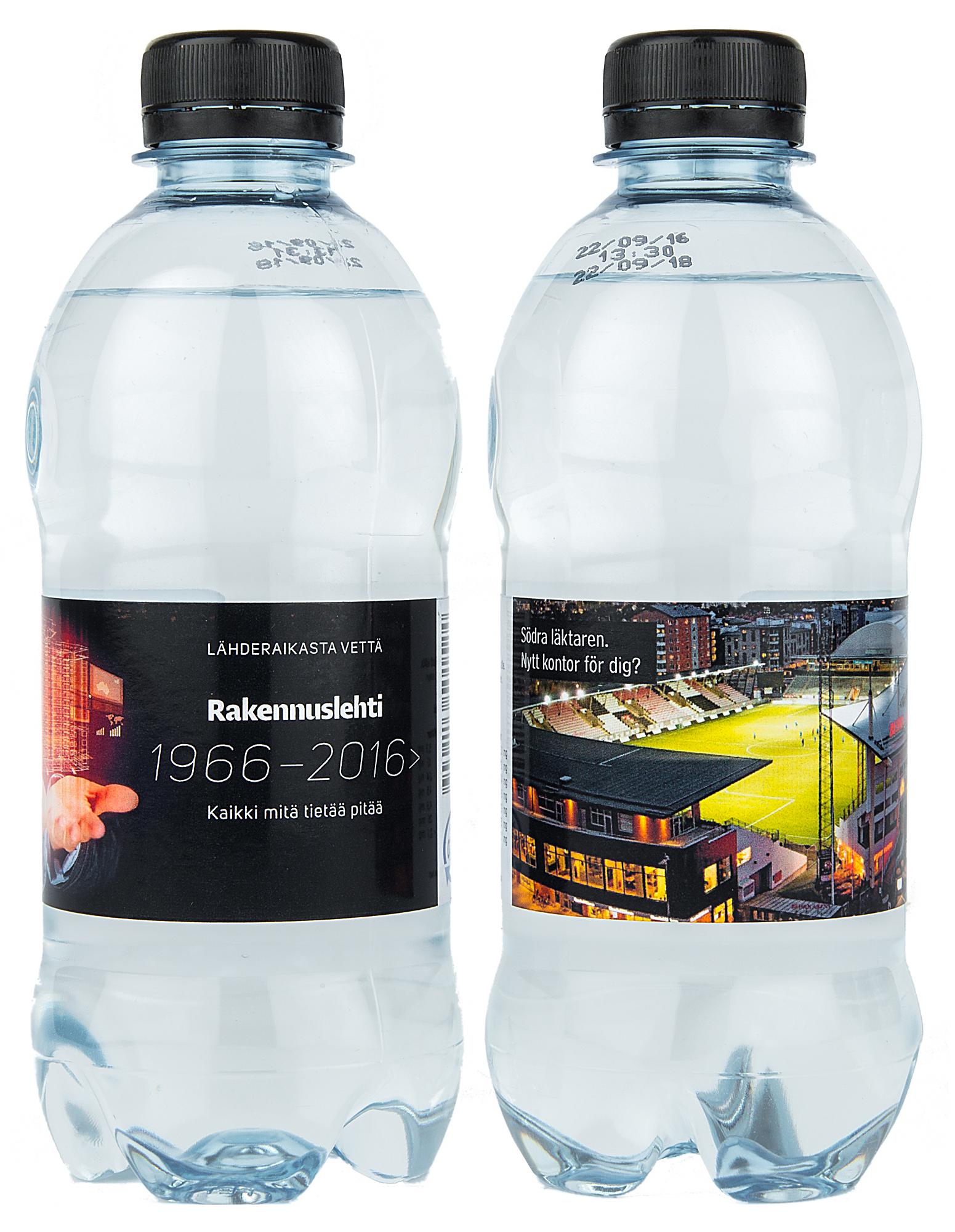 reklamvatten med tryck liten